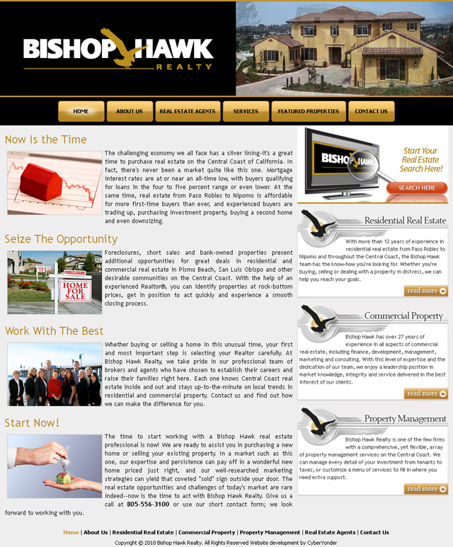 Bishop Hawk Realty. Central Coast real estate property management services