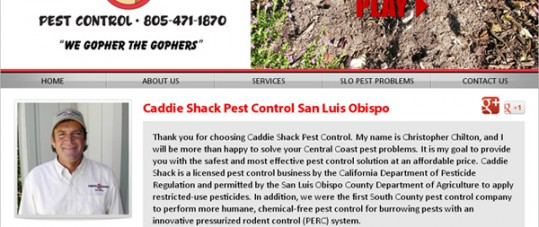 Caddie Shack Pest Control Site Design
